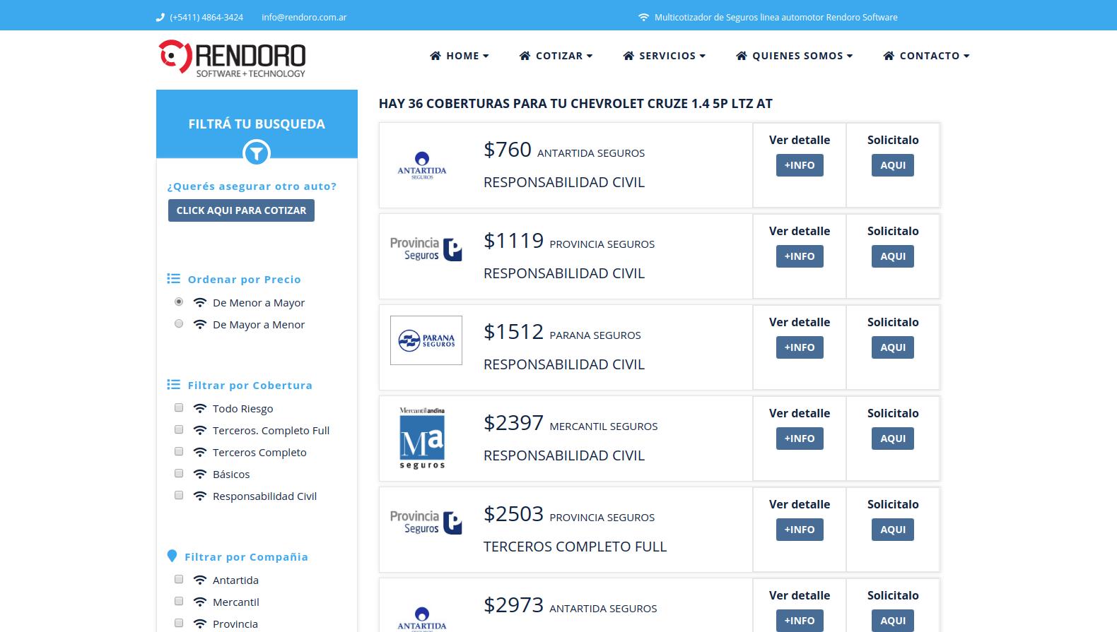 Rendoro Software desarrolla sistemas cotizadores para Brokers de seguros y software de gestión para empresas aseguradoras